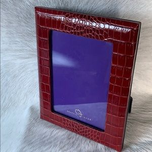 Graphic Image 5x7 Red Crocodile Embossed Frame NWT